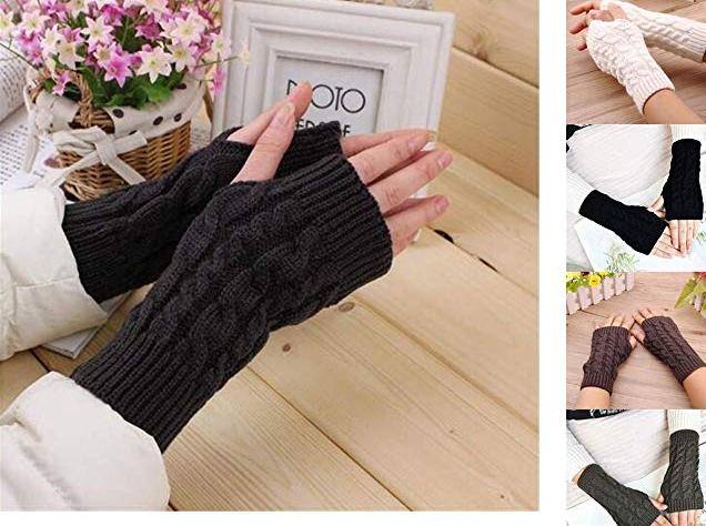 Amazon: Fantastick Autumn Winter Half Finger Warm Gloves – $2.31
