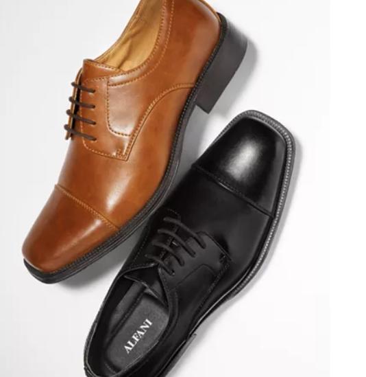 Macy's: Alfani Men's Adam Cap Toe Oxford – $18.00