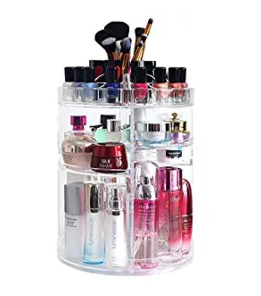 Amazon: COOLBEAR 360 Rotating Makeup Organizer – $9.34
