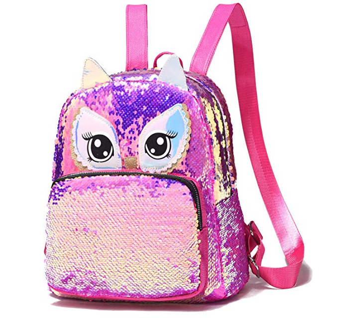 Amazon: Cute Owl Reversible Sequin Backpack – $9.20