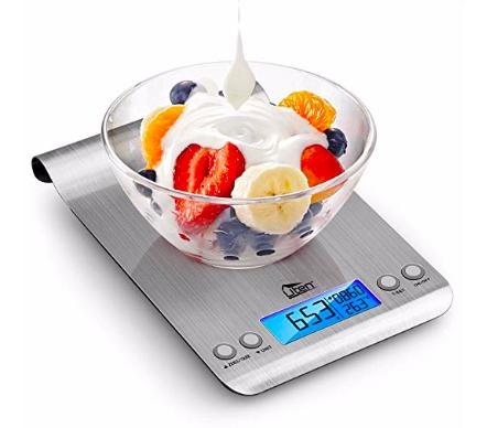 Amazon: Uten Digital Kitchen Scale Ultra Slim Multifunction Stainless Steel – $6.91