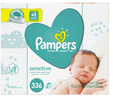 Amazon: 336ct Pampers Baby Wipes – $8.54