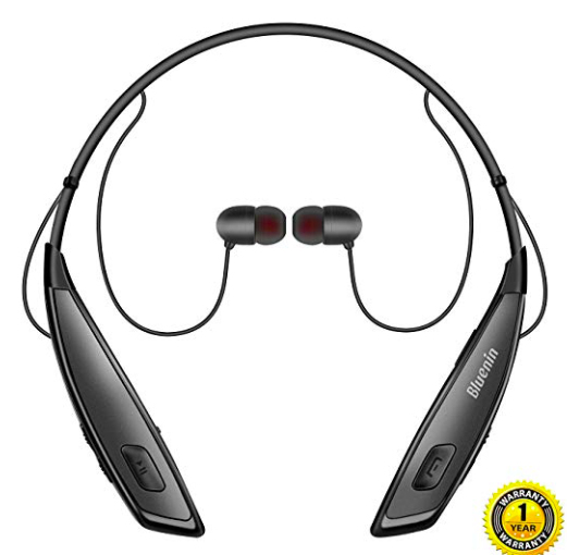 Amazon: Bluetooth Headphones Bluenin Wireless Neckband – $9.99