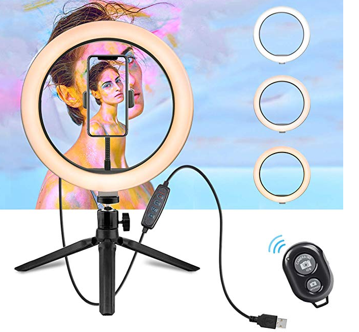 Amazon: LED Ring Light – 10″ Selfie Ring Light with Tripod Stand & Cell Phone Holder – $14.99