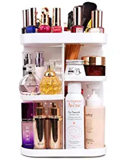 Amazon: 360 Makeup Organizer Square White – $11.99