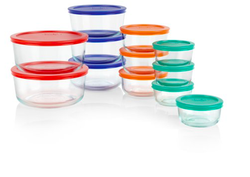 Walmart: Pyrex 24-piece Simply Store Round Glass Food Storage Set – $16.41
