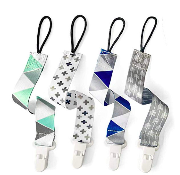 Amazon: PandaEar Baby Pacifier Clips Solid Color, 4 Pack – $3.95