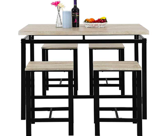 Amazon: Romatlink Modern Yet Stylish Dining Set 5 Piece Kitchen Dining Table Set – $82