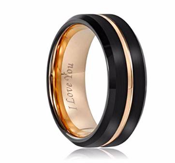 Amazon: Mens Wedding Ring Band – $7.80