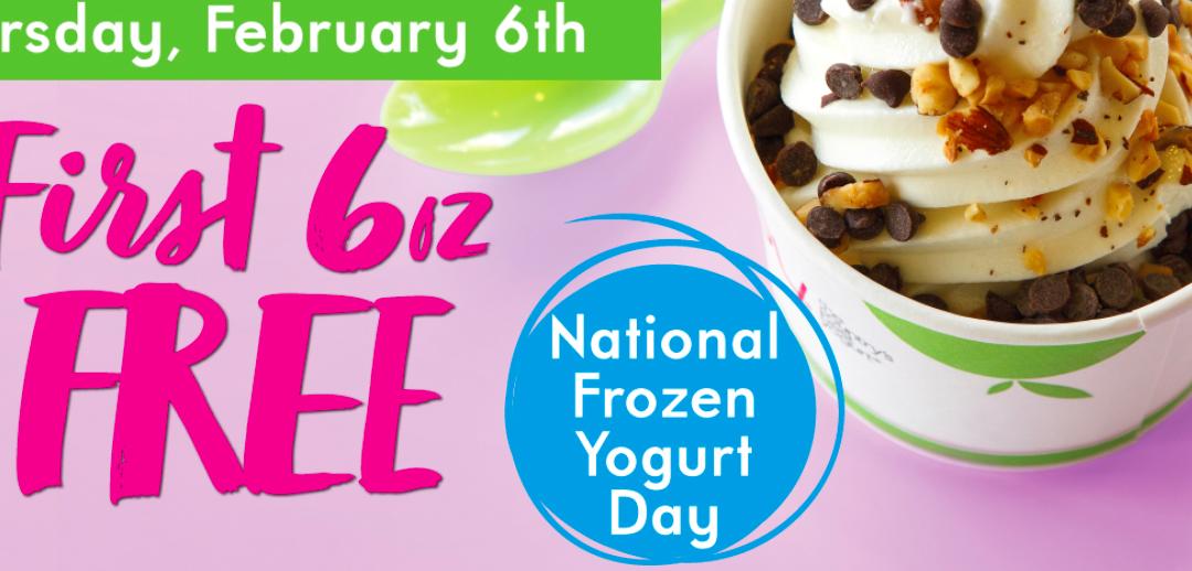 Free 6oz Frozen Yogurt at TCBY