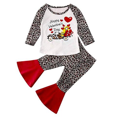 Amazon: Toddler Newborn Baby Girl Cotton Love Print Clothes – $11.99