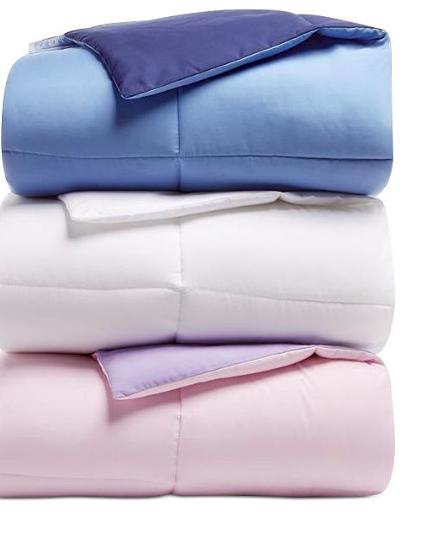 Macy's:Martha Stewart Essentials Reversible Down Alternative Comforter – $19.99