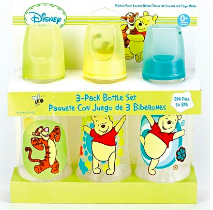 Amazon: Winnie The Pooh Three Pack Deluxe Baby Bottle Set – $5.89
