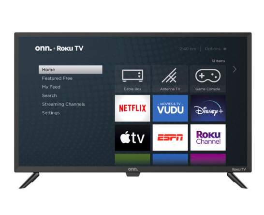 Walmart: ONN 32″ Class 720P HD LED Roku Smart TV – $108