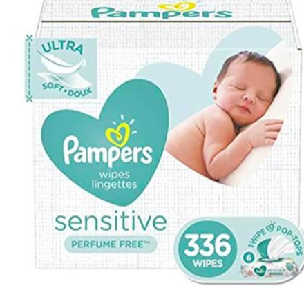 Amazon: Baby Wipes, Pampers Sensitive $9.06