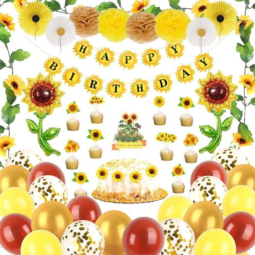 Amazon: Sunflower Birthday Party Decorations Supplies Kit – $8.99