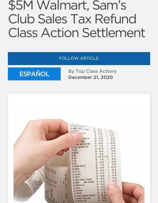 Walmart Class Action Settlement