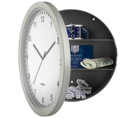 "Amazon: 10"" Battery Operated Working Analog Clock with Secret Interior Storage – $12.86"