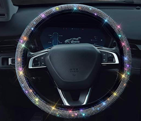 Amazon: Bling Rhinestones Steering Wheel Cover – $8.99
