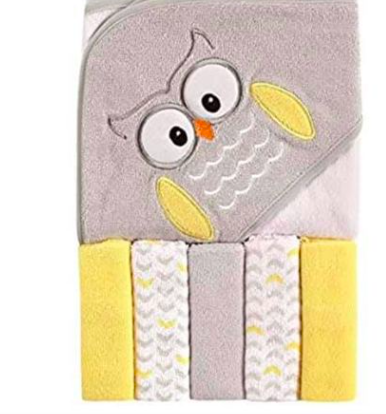 Amazon: Luvable Friends Unisex Baby Hooded Towel with Five Washcloths – $6.99
